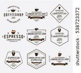 coffee cafe emblem vintage... | Shutterstock .eps vector #538723372