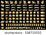 banner ribbon label gold vector ... | Shutterstock .eps vector #538725532
