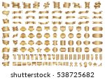 banner ribbon label gold vector ... | Shutterstock .eps vector #538725682