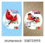 christmas and new year's... | Shutterstock .eps vector #538725955