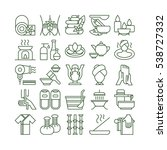 spa icons set. spa and massage. ... | Shutterstock .eps vector #538727332
