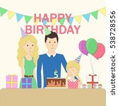 isolated birthday family in the ...   Shutterstock .eps vector #538728556