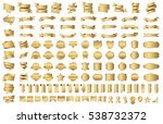 ribbon banner label gold vector ... | Shutterstock .eps vector #538732372