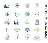 eco energy and environment...   Shutterstock .eps vector #538733758