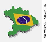 brazil map element and 3d... | Shutterstock .eps vector #538734346