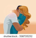 embraces of a loving couple.... | Shutterstock .eps vector #538735252