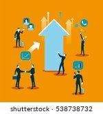 social networking  ... | Shutterstock .eps vector #538738732