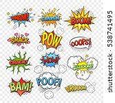 comic speech bubbles set... | Shutterstock . vector #538741495