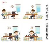 set of cartoon businessman... | Shutterstock .eps vector #538750876