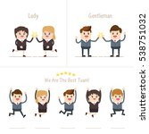 group of a happy business... | Shutterstock .eps vector #538751032