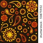 colorful paisley background | Shutterstock . vector #53875552