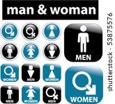 man   woman signs. vector | Shutterstock .eps vector #53875576
