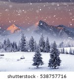 Majestic Winter Landscape At...