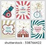 set of 6 cute creative cards... | Shutterstock .eps vector #538766422