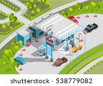 isometric poster of gas station ... | Shutterstock . vector #538779082