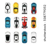 sport cars top view icons set.... | Shutterstock . vector #538779352