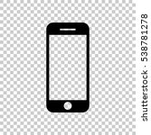 mobile phone icon. black icon... | Shutterstock .eps vector #538781278