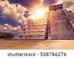 el castillo  the kukulkan... | Shutterstock . vector #538786276