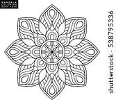 flower mandala. vintage... | Shutterstock .eps vector #538795336