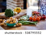 different vegetables and greens.... | Shutterstock . vector #538795552
