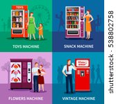 stylish colorful vending... | Shutterstock . vector #538802758