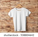 blank white t shirt against... | Shutterstock . vector #538804642