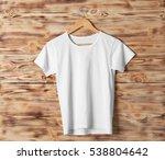 blank white t shirt against... | Shutterstock . vector #538804642