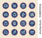 shopping web icons | Shutterstock .eps vector #538805026