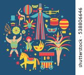 vector collection with carnival ... | Shutterstock .eps vector #538806646