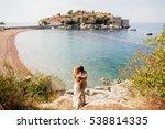 honeymoon couple travel sea and ... | Shutterstock . vector #538814335