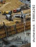 builders build a foundation... | Shutterstock . vector #538816282