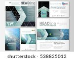 social media posts set.... | Shutterstock .eps vector #538825012