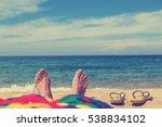 enjoying the sea   ocean. focus ... | Shutterstock . vector #538834102
