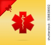 medical symbol of the emergency ... | Shutterstock . vector #538838002