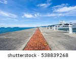 brick paved road leading up to... | Shutterstock . vector #538839268