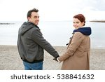 rear view of tourist couple on... | Shutterstock . vector #538841632