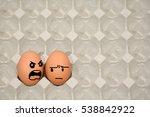 Small photo of scolded ,Haggle fresh eggs model