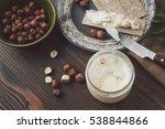serving table for breakfast ...   Shutterstock . vector #538844866