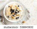 oatmeal porridge with walnuts ... | Shutterstock . vector #538845832