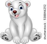 cartoon polar bear sitting   Shutterstock .eps vector #538846252