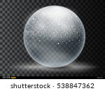 christmas snow globe isolated...