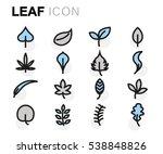 vector flat leaf icons set | Shutterstock .eps vector #538848826