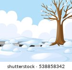 scene with road covered with... | Shutterstock .eps vector #538858342