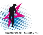 boy. retro background. | Shutterstock .eps vector #53885971
