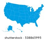 blank map of united states of... | Shutterstock .eps vector #538865995