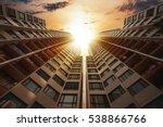 futuristic architecture... | Shutterstock . vector #538866766