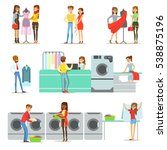 people at the laundry  dry... | Shutterstock .eps vector #538875196
