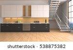 interior dining area. 3d... | Shutterstock . vector #538875382