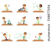 teens in lab coats doing... | Shutterstock .eps vector #538877056