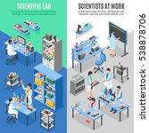 two scientists laboratory... | Shutterstock .eps vector #538878706